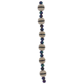 Rainbow Geometric & Round Wood Bead Strand