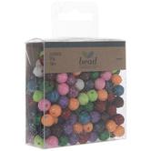 Rainbow Glitter Beads
