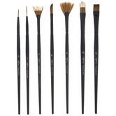 Watercolor & Acrylic Brushes - 7 Piece Set