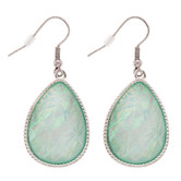 Imitation Opal Teardrop Earrings