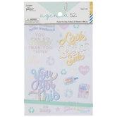 Pastel Tie-Dye Foil Planner Stickers