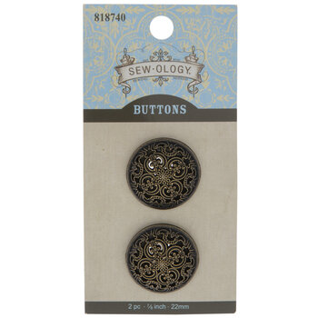 Scroll Round Shank Buttons - 22mm