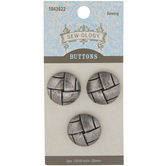 Basket Weave Metal Shank Buttons - 20mm