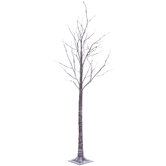Flocked Branch Bare Pre-Lit Christmas Tree - 7'