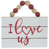 I Love Us Wood Ornament