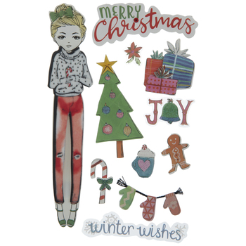 Merry Christmas 3D Stickers
