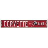 Corvette Boulevard Metal Sign