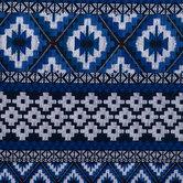Blue Geo Rug Duck Cloth Fabric