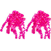 Bright Pink Curly Bows