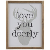 Love You Deerly Wood Wall Decor