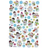 Snowmen & Snowflakes Foil Stickers