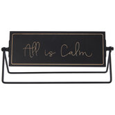 All Is Calm & All Is Bright Rotating Wood Decor