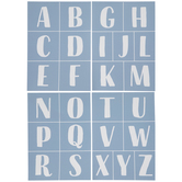 Steady Brush Alphabet Adhesive Silkscreen Stencils