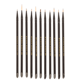 Royal Majestic Synthetic Detail Paint Brushes - 11 Piece Set