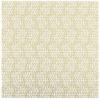 "Gold Random Dot Foil Scrapbook Paper - 12"" x 12"""