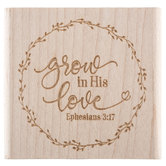 Ephesians 3:17 Rubber Stamp