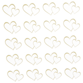 Gold Foil Open Heart Stickers