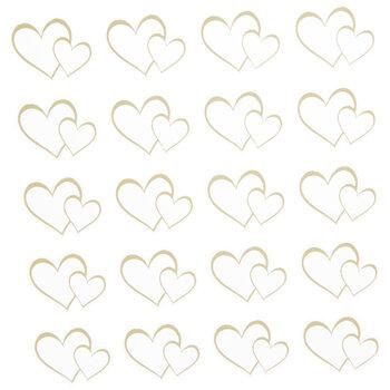 Gold Foil Open Heart Stickers