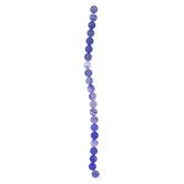 Blue Striped Agate Round Bead Strand