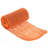 Orange Burlap Ribbon - 5 1/2""