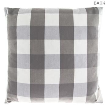 Gray & White Buffalo Check Pillow