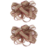 Metallic Red Burlap Bows