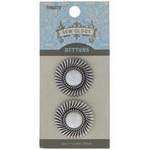 Sunburst Plastic Pearl Shank Buttons - 27mm
