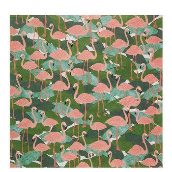 "Pink Flamingos Scrapbook Paper - 12"" x 12"""