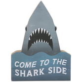 Come To The Shark Side Wood Wall Decor