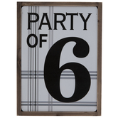 Party Of 6 Wood Decor