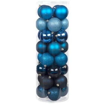 Blue Matte, Shiny & Glitter Ball Ornaments