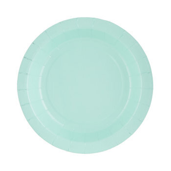 Mint Green Paper Plates - Small