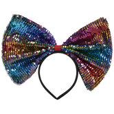 Multi-Color Flip Sequin Bow Headband