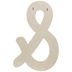 Typewriter Font Wood Ampersand Wall Decor