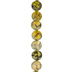 Amber Crackle Dyed Agate Bead Strand