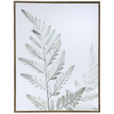 Green Watercolor Leaves Wood Wall Decor