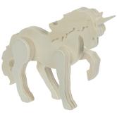 Wood Standing Unicorn