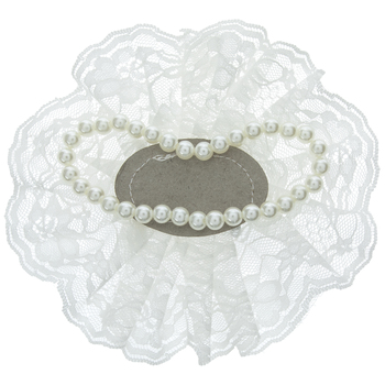 Lace Wristlet With Pearls
