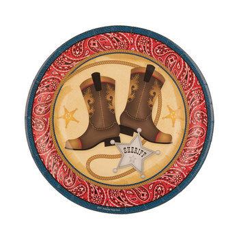 Cowboy Paper Plates - Small