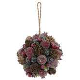 Pinecone & Berry Ball Ornaments