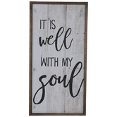 It Is Well Wood Wall Decor