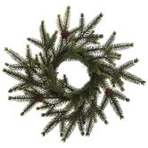 Spruce & Pinecone Mini Wreath