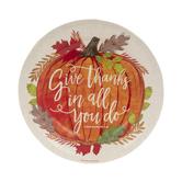 1 Thessalonians 5:18 Pumpkin Paper Plates