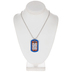 1 Thes. 5:17 Dog Tag Praying Necklace