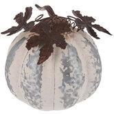 White Galvanized Metal Pumpkin