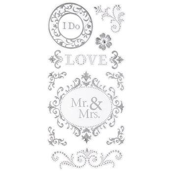 Mr. & Mrs. Foil Stickers
