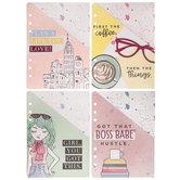 Watercolor Girls Planner Pocket Folders