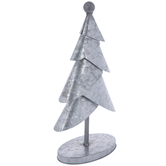 Layered Galvanized Metal Christmas Tree - Small