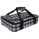 Black & White Buffalo Check Insulated Carrier