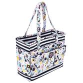Floral & Striped Planner Tote Bag